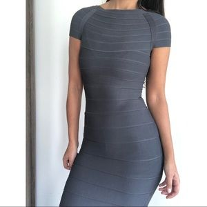 Ann Taylor gray bandage body dress XXSP